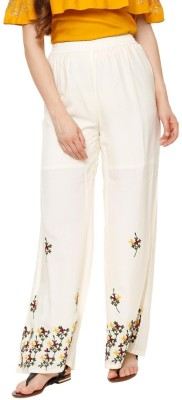 People Regular Fit Women White Trousers