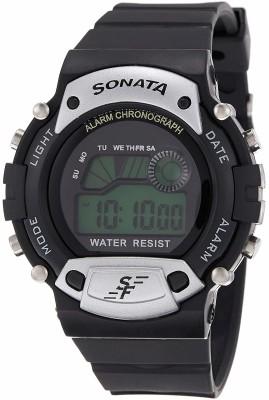 Sonata 7982PP02 Super Fibre Digital Grey Dial Men's Watch (7982PP02)