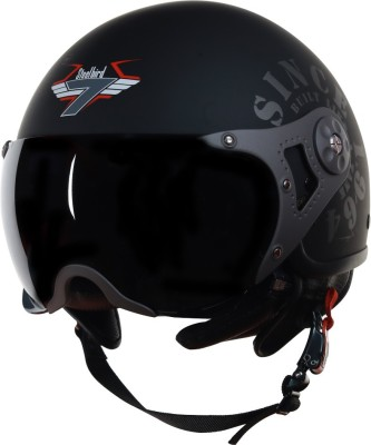 Steelbird SB-27-TANK Motorbike Helmet(Matt Black/Grey)