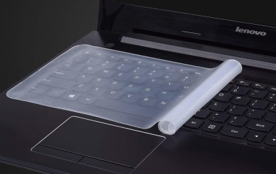 G-vision Silicone Keyboard Protector Skin for Laptop Laptop Keyboard Skin(Transparent)
