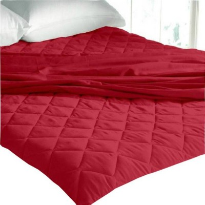 Kihome Elastic Strap King Size Waterproof Mattress Protector(Red)