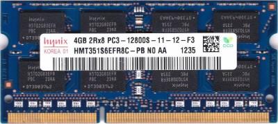 Hynix 1600mhz 1.5v DDR3 4 GB (Dual Channel) Laptop (HMT351S6EFR8C-PB PC3 12800S) at flipkart