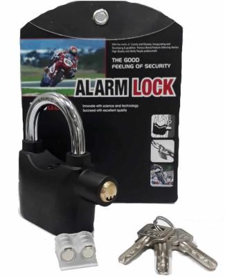 InfraHive High Quality Alarm Lock Padlock Anti-Theft Security System Door Safety Lock(Black)