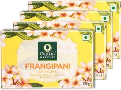 Organic Harvest Frangipani Bathing Bar - Combo - (Pack of 4)(4 x 125 g)
