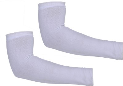 H International HIWHITECOTN5 Arm Sleeve Driving Gloves(White)