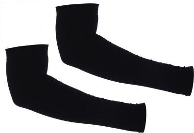 H International HIBLACKCOTN6 Arm Sleeve Driving Gloves(Black)