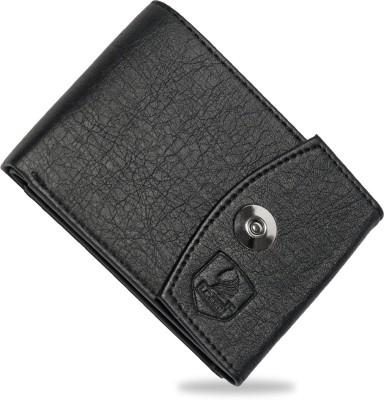 LANDER Men Black Genuine Leather Wallet 7 Card Slots