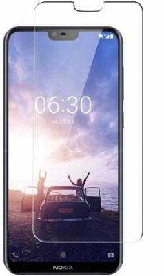 SAVD Tempered Glass Guard for Nokia 5.1 Plus (2018) Tempered Glass/Tempered Glass for Nokia 5.1 Plus (2018) Premium Quality Screen Protector for Nokia 5.1 Plus\X5 ( Transparent)(Pack of 1)