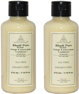 Khadi Pure Herbal Orange & Lemongrass Hair Conditioner(420 ml)