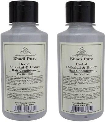 Khadi Pure Herbal Shikakai & Honey Hair Conditioner (PACK OF 2)(420 ml)