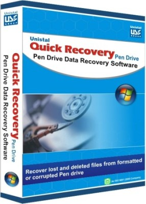 Unistal Quick Recovery - Pen Drive - Recover USB Pen Drive Data(1 year, 1 PC)