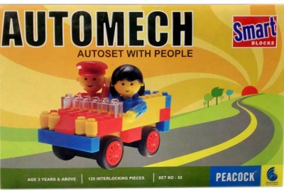 Peacock Automech  Car Blocks by Party Shopping Multicolor Peacock Blocks   Building Sets