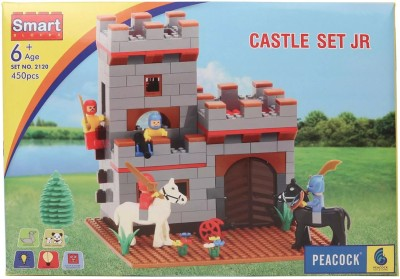 Peacock Smart Blocks Castle Set Junior by Party Shopping Multicolor Peacock Blocks   Building Sets