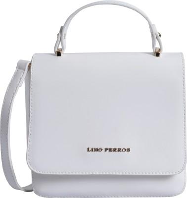 Lino Perros Women White Satchel at flipkart