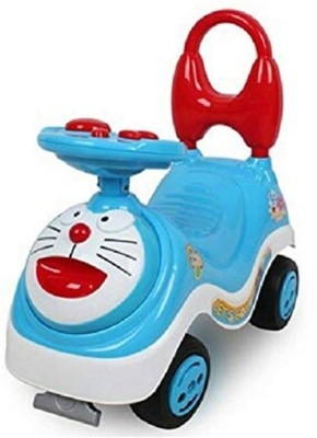 SQUICKLE Musical Doraemon Print Ride On car for Kids (Multicolor)(Multicolor)