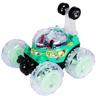 Ben 10 Remote Control Stunt Car With 360' Rotation & Led Lights and Music(Multicolor)