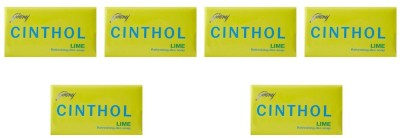 cinthol Epic Lime Soap 125 G (Pack of 6)(6 x 125 g)