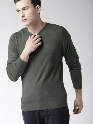 Mast   Harbour Self Design Round Neck Casual Men Grey Sweater