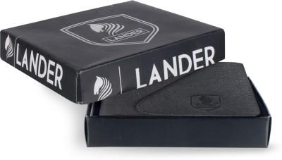 LANDER Boys Black Artificial Leather Wallet 4 Card Slots