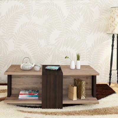 Flipkart Perfect Homes Engineered Wood Coffee Table(Finish Color - Virgin oak + dark wallnut)