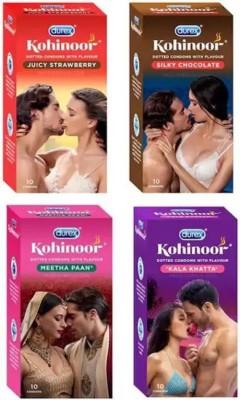 Durex Kohinoor honeymoon pack Condom (Set of 4, 40S) Condom(Set of 4, 40S)