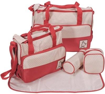 Miss   Chief 5pcs Baby Maternity Handbag Purse Diaper Bag Red