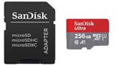 SanDisk 256 256 GB MicroSD Card Class 10 100 MB/s  Memory Card(With Adapter)