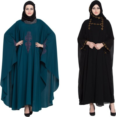 Entire 45a Premium Quality Creep Abaya With Hijab Multicolor