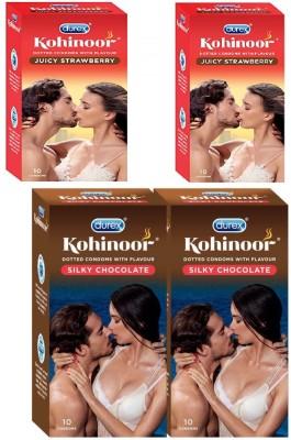 Durex 2X2 pack Condom (Set of 4, 40S) buddhtrader Condom(Set of 4, 40S)