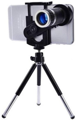 FD1 8X Optical Zoom Telescope Camera Lens with Universal Holder & Tripod Tripod(Black, Supports Up to 500 g) 1