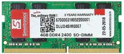 SIMTRONIC RAM 2400 DDR4 4  GB Laptop  DDR4  SIMTRONIC RAMs