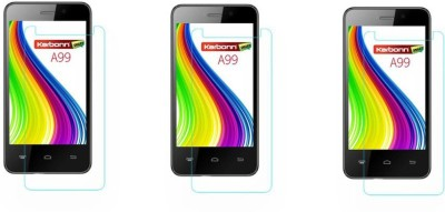 Macron Tempered Glass Guard for Karbonn Smart A99(Pack of 3)(Pack of 3)