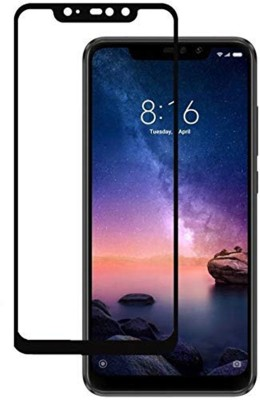 True Desire Tempered Glass Guard for Edge to Edge, 6D Full Screen Cover Anti Fingerprint Tempered Glass Guard for Xiaomi Redmi Mi Note 6 Pro - Transparent (Black), Full Gum(Pack of 1)