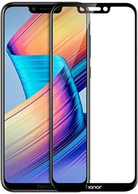 True Desire Tempered Glass Guard for Full Body 6D Tempered Glass, Full Edge-to-Edge Curved Screen Protector for Honor 8C - (Black) with Free Installation Kit(Pack of 1)