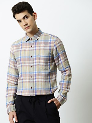 Mr Bowerbird Men Checkered Casual Multicolor Shirt at flipkart