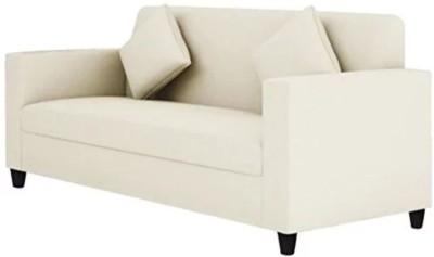 Mofi sofas Fabric 3 Seater Sofa(Finish Color - White)