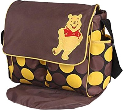 Miss   Chief Pooh print Multi Travel Langer Winnie the Diaper Bag  Brown  Diaper Bag Brown Miss   Chief Diaper Bags