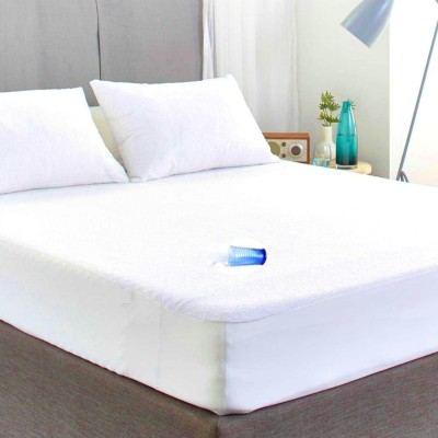 AVI Fitted Single Size Waterproof Mattress Protector(White)
