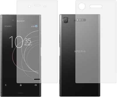 Case Creation Front and Back Screen Guard for Sony Xperia XZ1(Pack of 2)