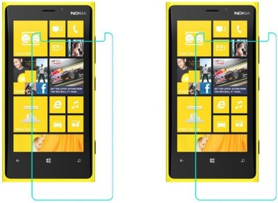Macron Tempered Glass Guard for Nokia Lumia 920(Pack of 2)