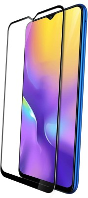 True Desire Tempered Glass Guard for Full Body 9H Tempered Glass, Full Edge-to-Edge Screen Protector for Samsung M20 - (Black) with Free Installation Kit(Pack of 1)