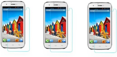 Macron Tempered Glass Guard for Micromax Superfone Canvas 3d A115(Pack of 3)(Pack of 3)