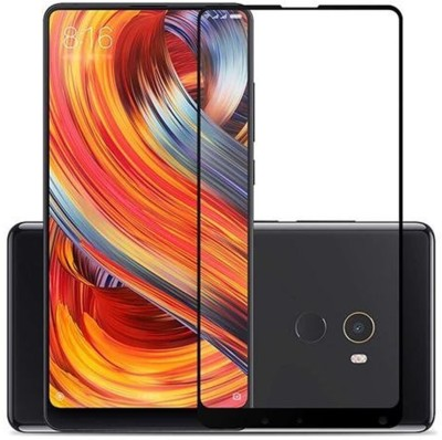 True Desire Tempered Glass Guard for Full Screen Tempered Glass Screen Protector 9H Hardness for Xiaomi Mi Mix 2 5D (Edge to Edge) (Full Glue)(Black)(Pack of 1)