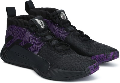 ADIDAS DAME 5 Basketball Shoes For Men(Black) at flipkart