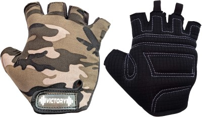 VICTORY Ultra - 01 SKIN FIT Gym & Fitness Gloves(Camouflage Military Style)