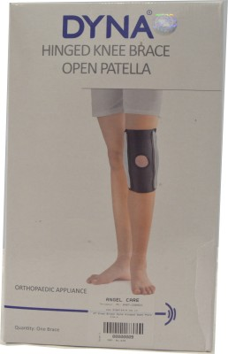 Dyna Hinged Knee Support Open Patella - EXTRA LARGE Knee Support(Black)