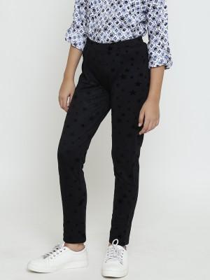 NATILENE Regular Fit Girls Black Trousers at flipkart