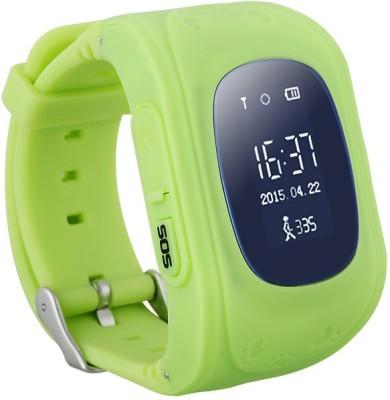 SeTracker GPS Tracker Smart Watch for Kids Silver Smartwatch(Green Strap S)