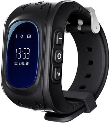 SeTracker GPS Tracker Smart Watch for Kids Silver Smartwatch(Black Strap S)