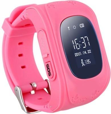 SeTracker GPS Tracker Smart Watch for Kids Silver Smartwatch(Pink Strap S)